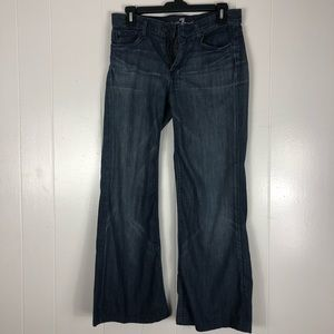 7 for all Mankind ginger wide leg jeans size 28